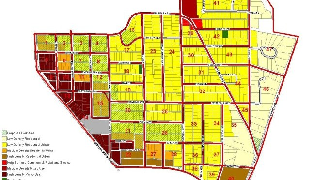 New Chauncey Land Use Zoning Map
