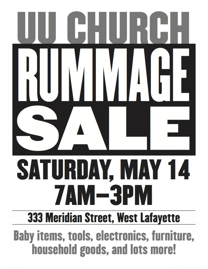 UU Church Rummage Sale 2016