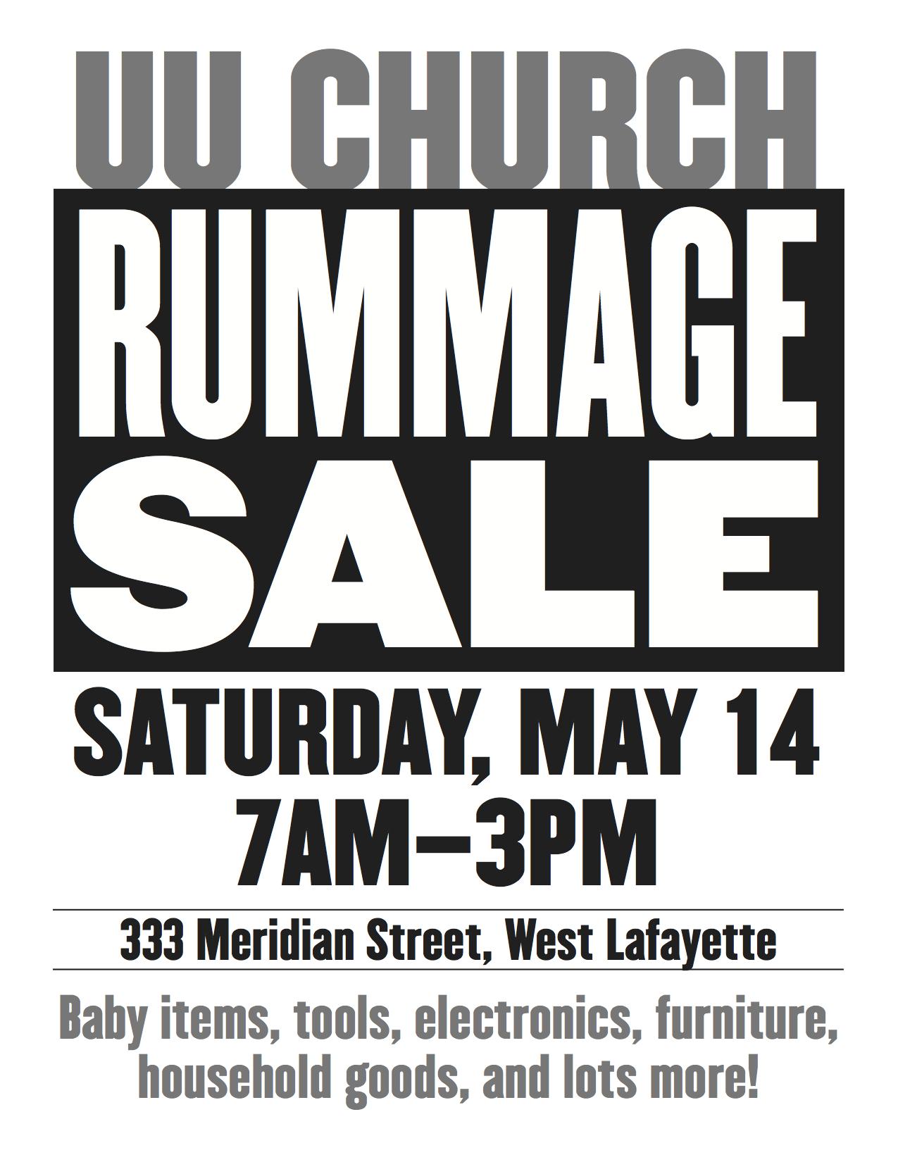 Neighborhood Garage Sale and UU Church Rummage Sale | New